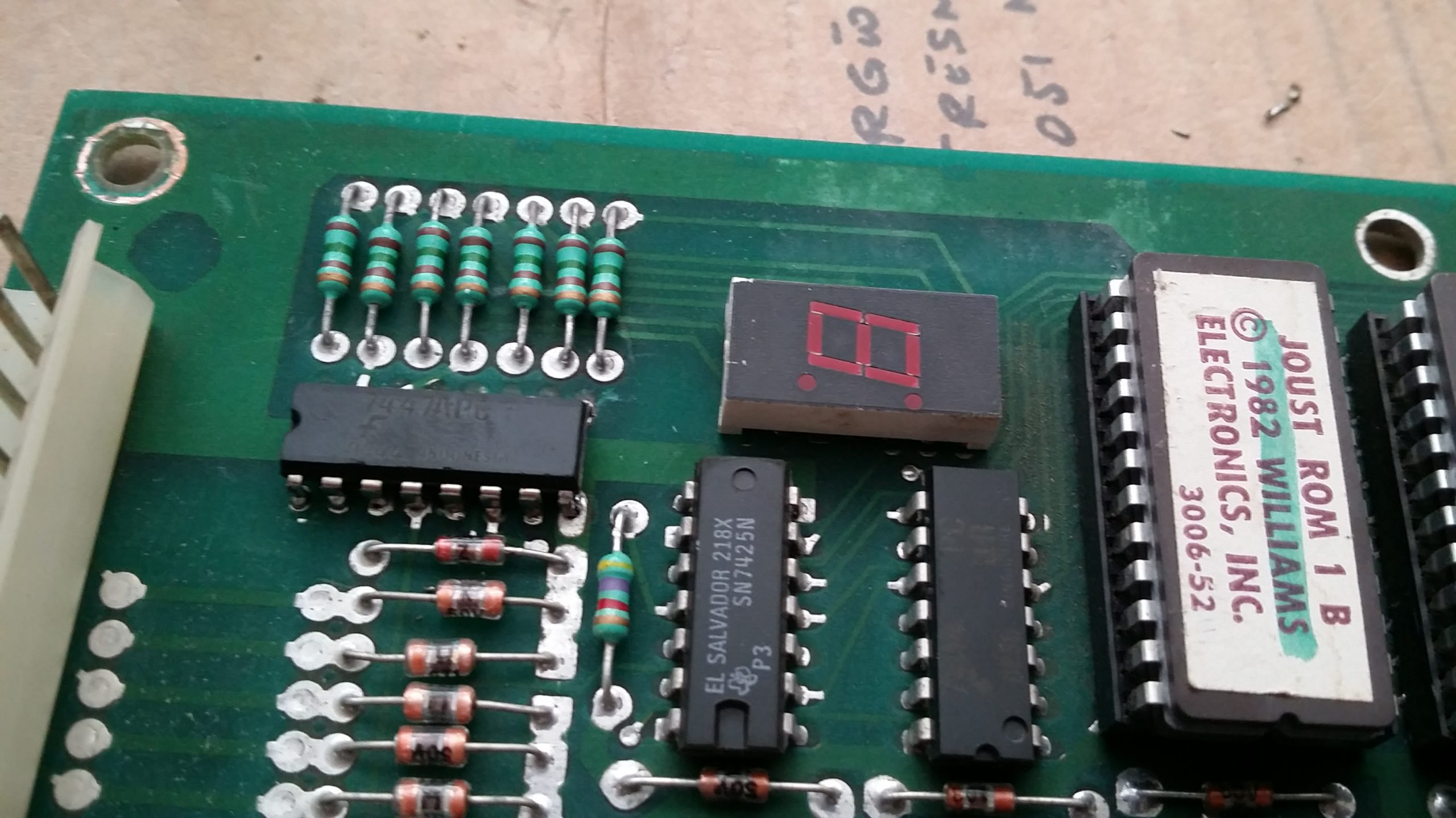 ROM board with chip replaced