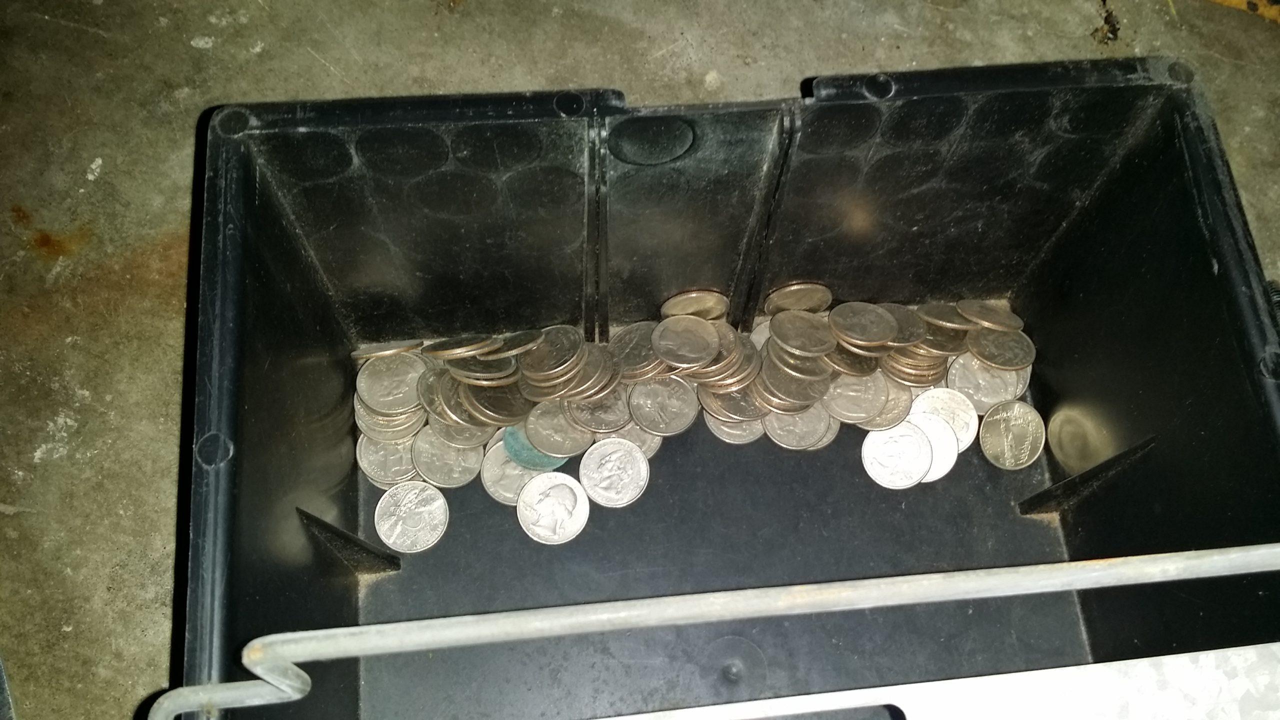 coins in bucket