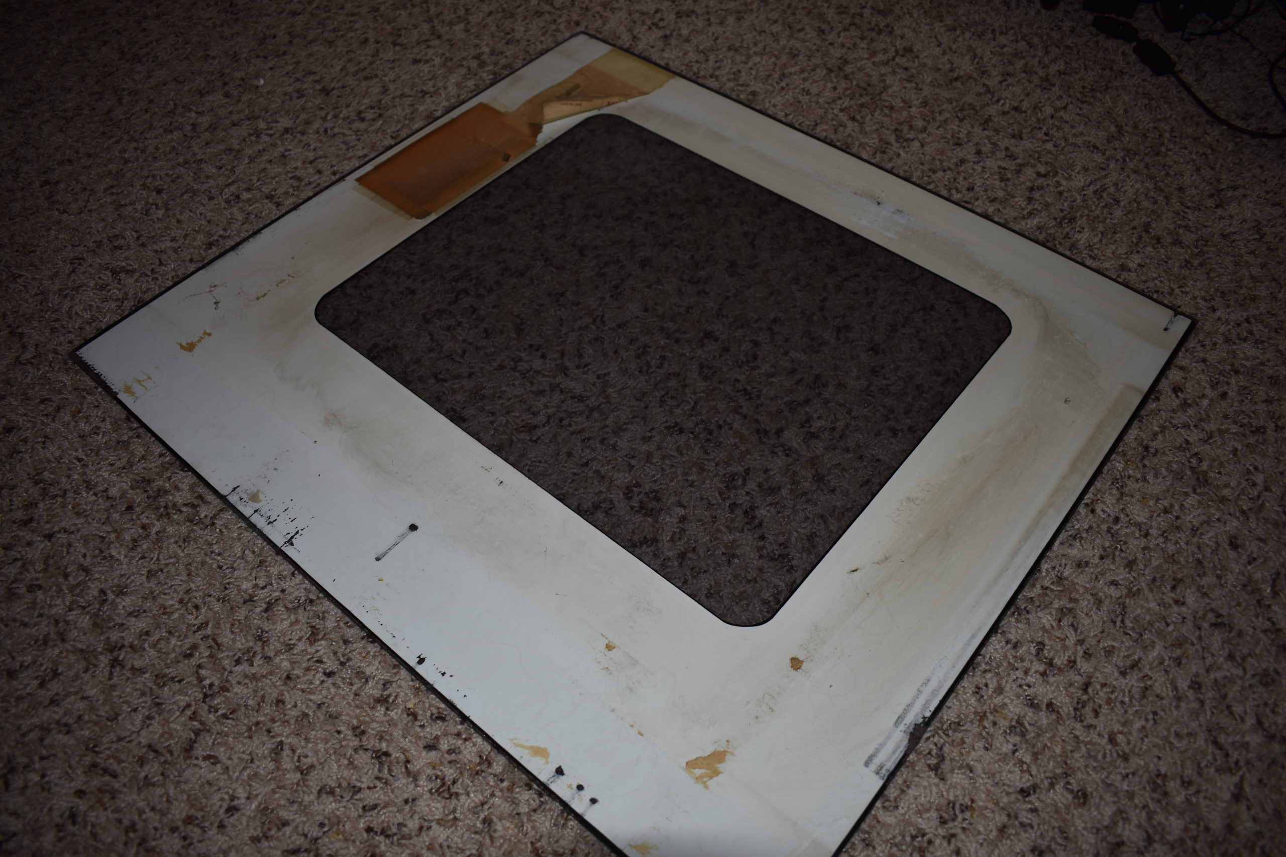 back of monitor glass